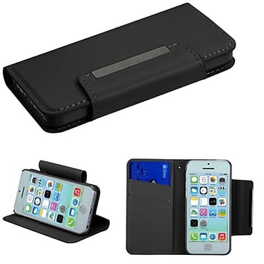 Insten® Book-Style MyJacket Wallet Case W/Card Slot For iPhone 5C, T Black