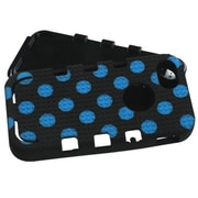 Insten® TUFF eNUFF Hybrid Phone Protector Cover F/iPhone 5/5S, Natural Black/Blue Polka Dots