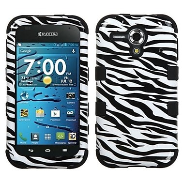 Insten® Hybrid Phone Protector Cover For Kyocera C5215 Hydro Edge, Zebra Skin/Black