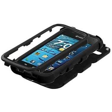 Insten® Rubberized TUFF Hybrid Protector Cover F/Kyocera C5215 Hydro Edge, Black/Black