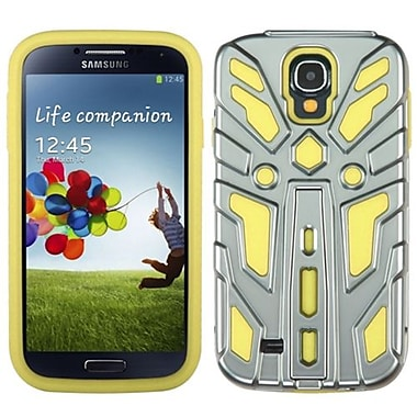 Insten® Hybrid Protector Cover For Samsung Galaxy S4, Silver Plating/Yellow Zenobots