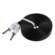 Insten® 6' Noodle Audio Cables With 3.5 to 3.5 Plug, Black