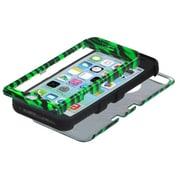 Insten® TUFF Hybrid Phone Protector Cover F/iPhone 5C, Zebra Skin Dr Green/Black