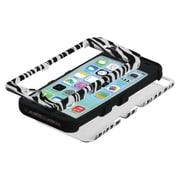 Insten® TUFF Hybrid Phone Protector Cover F/iPhone 5C, Zebra Skin/Black