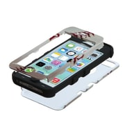 Insten® TUFF Hybrid Phone Protector Cover F/iPhone 5C, Baseball-Sports Collection/Black