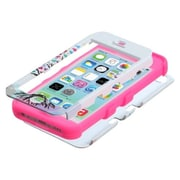 Insten® TUFF Hybrid Phone Protector Cover F/iPhone 5C, Love Tree/Electric Pink