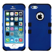 Insten® TUFF Hybrid Phone Protector Cover F/iPhone 5/5S, Titanium Dark Blue/Black
