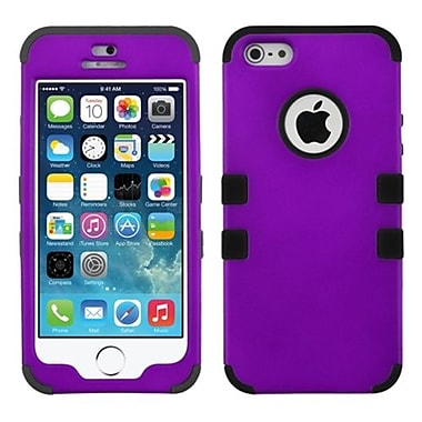 Insten® TUFF Hybrid Rubberized Phone Protector Cover F/iPhone 5/5S, Grape/Black