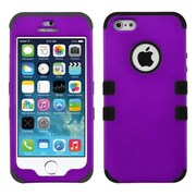 Insten® TUFF Hybrid Rubberized Phone Protector Cover F/iPhone 5/5S, Grape/Black