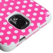 Insten® TUFF Hybrid Phone Protector Case For Samsung Galaxy Note 3, Dots Pink/White