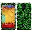 Insten® TUFF Hybrid Phone Protector Case For Samsung Galaxy Note 3, Zebra Dr Green/Black/2D Silver