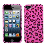 Insten® Phone Protector Cover F/iPhone 5/5S, Pink Leopard Skin