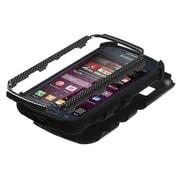 Insten® TUFF Hybrid Phone Protector Case For Samsung M840, Carbon Fiber/Black