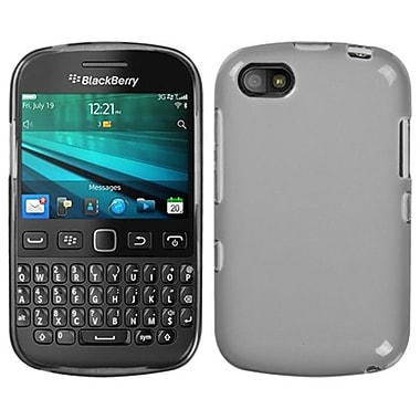 Insten® Rubberized Candy Skin Cover For BlackBerry 9720, Semi Transparent Smoke