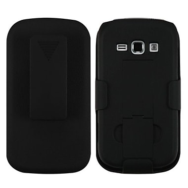 Insten® Rubberized Hybrid Holster For Samsung M840, Black