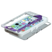 Insten® TUFF Hybrid Phone Protector Cover F/iPhone 5C, Twilight Petunias (2D Silver)/Solid White