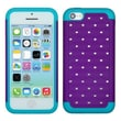 Insten® Luxurious Lattice Dazzling TotalDefense Protector Cover F/iPhone 5C, Purple/Tropical Teal