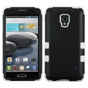 Insten® TUFF Hybrid Phone Protector Case For LG MS500/D500, Black/Solid White