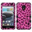 Insten® TUFF Hybrid Phone Protector Case For LG MS500, Pink Leopard Skin/Black