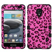 Insten® TUFF Hybrid Phone Protector Case For LG MS500, Pink Leopard Skin/Black
