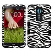 Insten® TUFF Hybrid Phone Protector Case F/LG D801/LS980/D800/VS980, Skin/Black Zebra