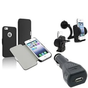 Insten® 1624981 3-Piece iPhone Car Charger Bundle For Apple iPhone 5/5S