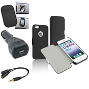 Insten® 1625061 4-Piece iPhone Car Charger Bundle For Apple iPhone 5/5S