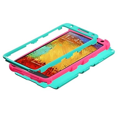 Insten® TUFF Hybrid Phone Protector Case For Samsung Galaxy Note 3, Teal Green/Electric Pink