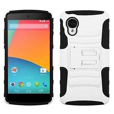 Insten® Advanced Armor Stand Protector Case For LG D820 Nexus 5, White/Black