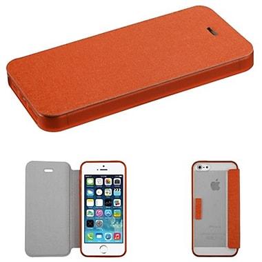 Insten® MyJacket Wallet Case W/T-Clear Gummy Case Tray F/iPhone 5/5S, Orange