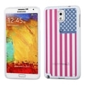 Insten® Gummy Case For Samsung Galaxy Note 3, Glassy United States National Flag/Solid White