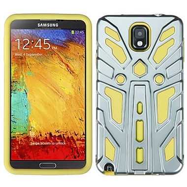 Insten® Hybrid Protector Case For Samsung Galaxy Note 3, Silver Plating/Yellow Zenobots
