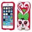 Insten® Pastel Skin Cover F/iPhone 5/5/5SC, Green/Red Rabbit