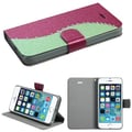 Insten® Silk Texture MyJacket Wallet Cases W/Diamonds and Tray F/iPhone 5/5S