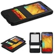 Insten® Hybrid MyJacket With Top Case For Samsung Galaxy Note 3, Black/Black
