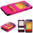 Insten® Hybrid MyJacket With Top Case For Samsung Galaxy Note 3, Hot-Pink/Black