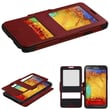 Insten® Hybrid MyJacket With Top Case For Samsung Galaxy Note 3, Red/Black