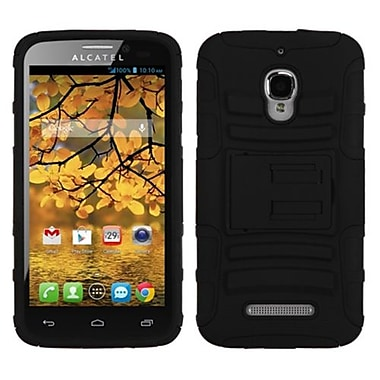 Insten® Advanced Armor Stand Protector Case For Alcatel 7024W, Black/Black