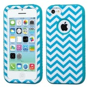 Insten® VERGE Hybrid Protector Case F/iPhone 5C, Blue Wave/Tropical Teal
