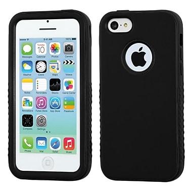 Insten® VERGE Hybrid Rubberized Protector Case F/iPhone 5C, Black/Black