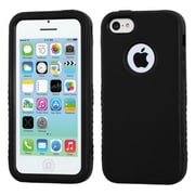 Insten® VERGE Hybrid Rubberized Protector Case F/iPhone 5C, Black/Black