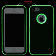 Insten® VERGE Hybrid Rubberized Protector Case F/iPhone 5C, Black/Lightning Electric Green
