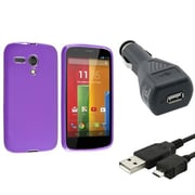 Insten® 1695854 3-Piece Car Charger Bundle For Motorola Moto G