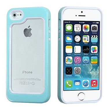 Insten® MyBumper Phone Protector Cover F/iPhone 5/5S, White/Solid Baby Blue