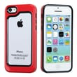 Insten® MyBumper Phone Protector Case F/iPhone 5C, Black/Solid Red