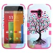 Insten® TUFF Hybrid Protector Case For Motorola G, Love Tree/Electric Pink