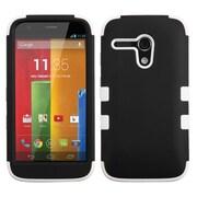 Insten® TUFF Hybrid Protector Case For Motorola G, Black/Solid White