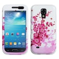 Insten® TUFF Hybrid Phone Protector Case For Samsung Galaxy S4 Mini, Spring Flowers/Solid White