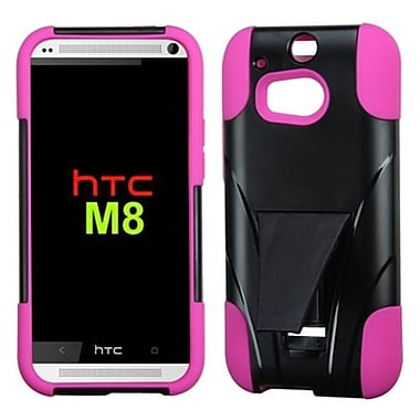 Insten® Advanced Armor Stand Protector Case For HTC M8, Hot-Pink Inverse