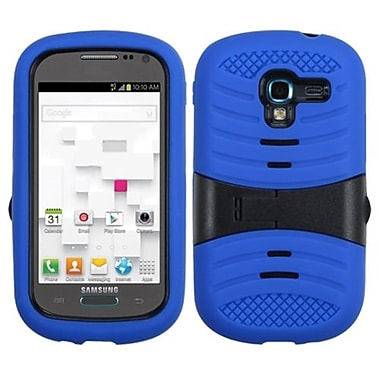 Insten® Symbiosis Protector Case W/Horizontal Stand F/Samsung T599 Galaxy Exhibit, Black/Blue Wave